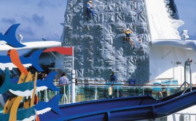 Royal Caribbean Brilliance of the Seas climbing wall